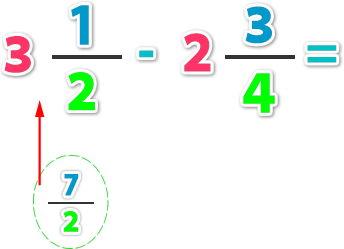 Resta de números mixtos