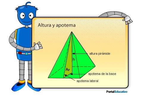 Altura y apotema de las pirámides regulares