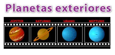 Planetas interiores y planetas exteriores