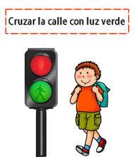 semaforo y peatones