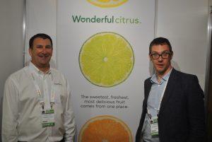 Ejecutivos de ventas y exportación de Wonderful Citrus: Dan Kass (izquierda) y el ejecutivo de ventas en europa Tom Robyn