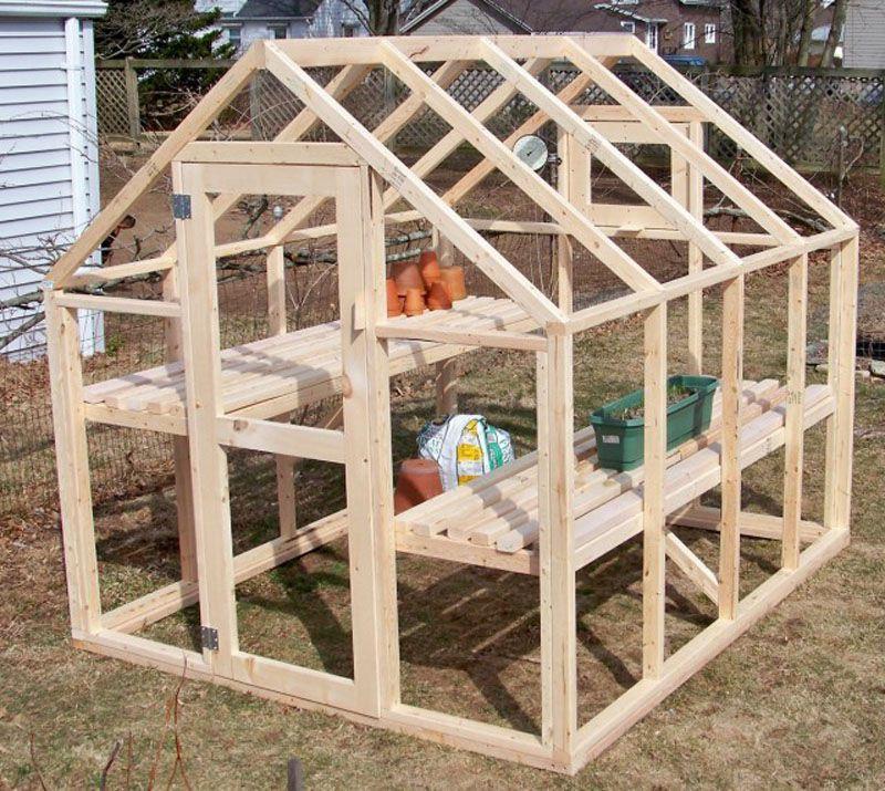 Paso a paso para hacer un invernadero de madera, sólido y duradero ...