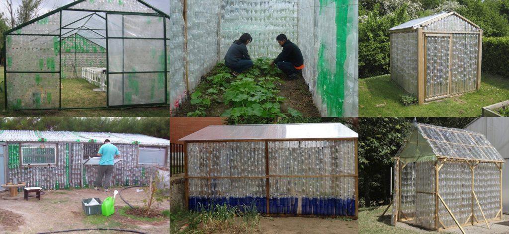Ideas para construcción de invernaderos con botellas de plástico recicladas