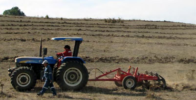tractor escarificado