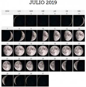 julio 2019 luna