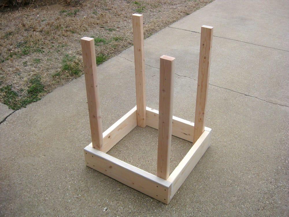 caja de madera para cultivar papas