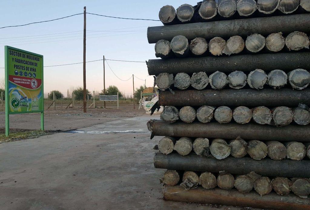 postes de plástico reciclado