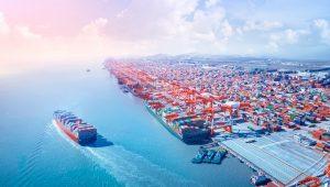 puerto, contenedores