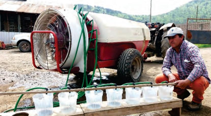 Inspección de pulverizadores hidroneumáticos para uso agrícola