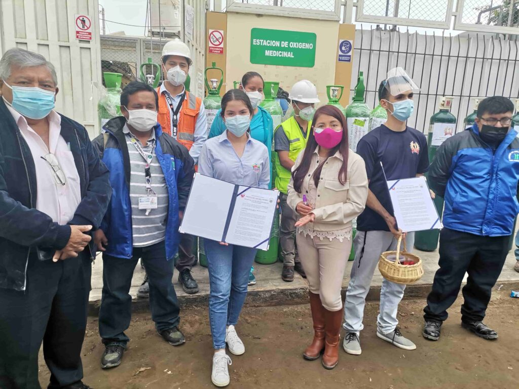 Hortifrut colaboró con balones de oxígeno para la atención de pacientes Covid-19 de Chao y Virú
