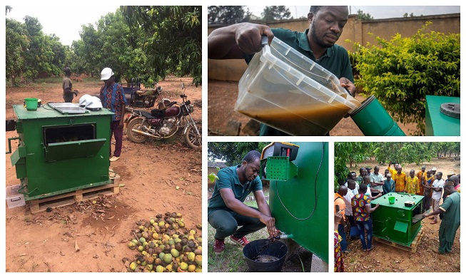 Máquina que convierte restos de cosechas en compost y gas de cocina