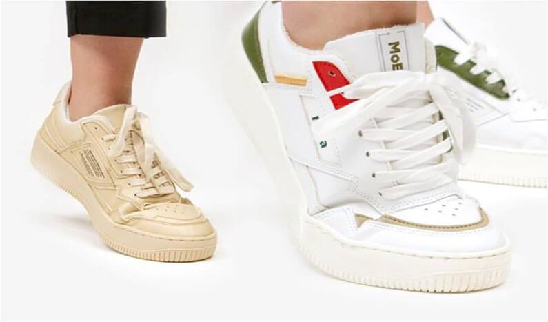 La marca MoEA crea zapatillas sostenibles con frutas y plantas