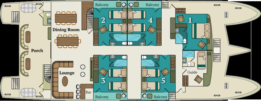 Main deck | M/C Alya