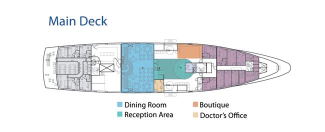 Main deck   M/Y La Pinta