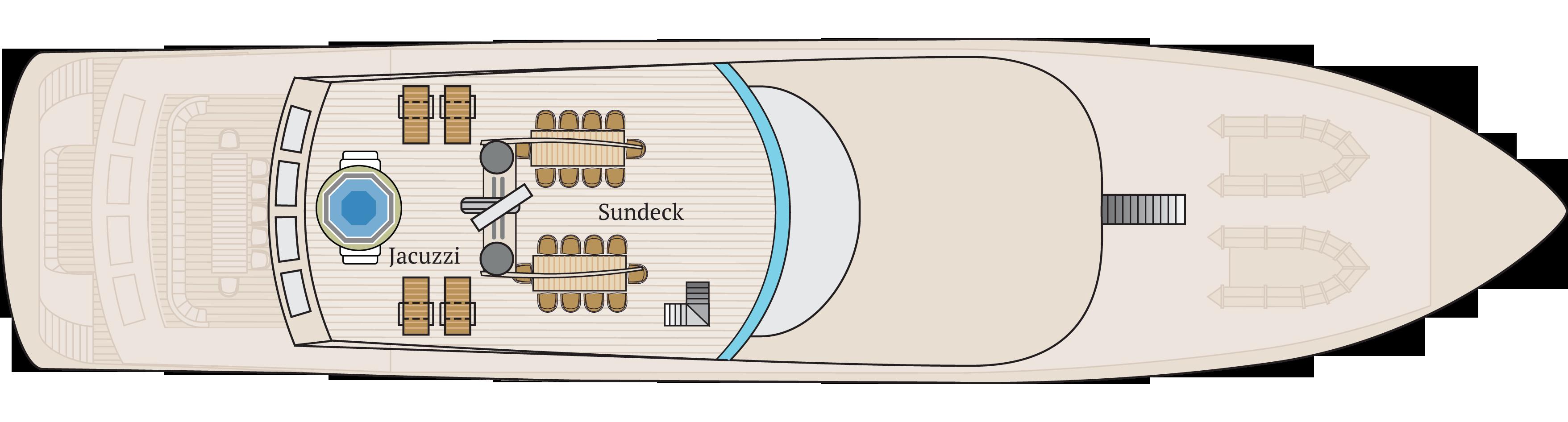 Sun deck | M/Y Infinity