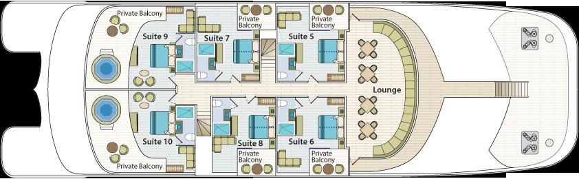 Upper deck | Cormorant II Catamaran