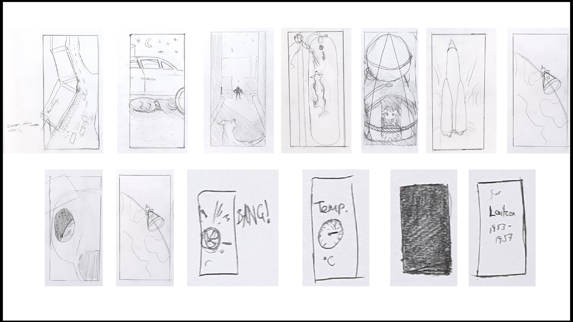 Scripted scenes sketches