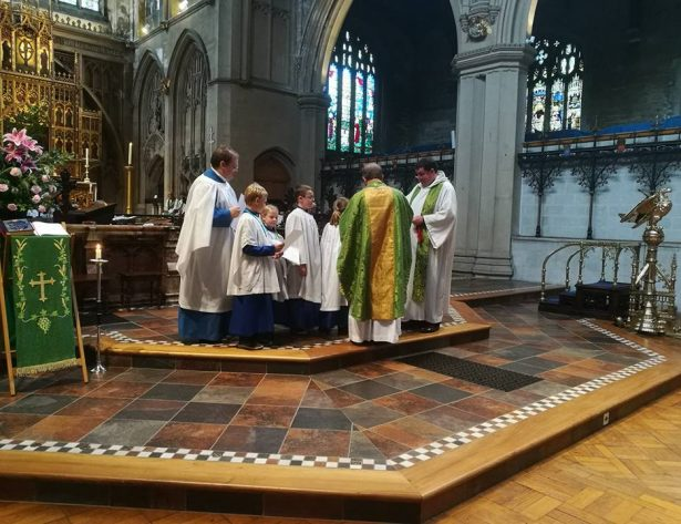 Choristers Receiving Medals and Certificates