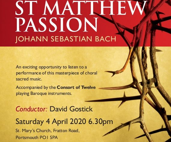 PCU & Consort of 12 perform Bach's St Matthew Passion