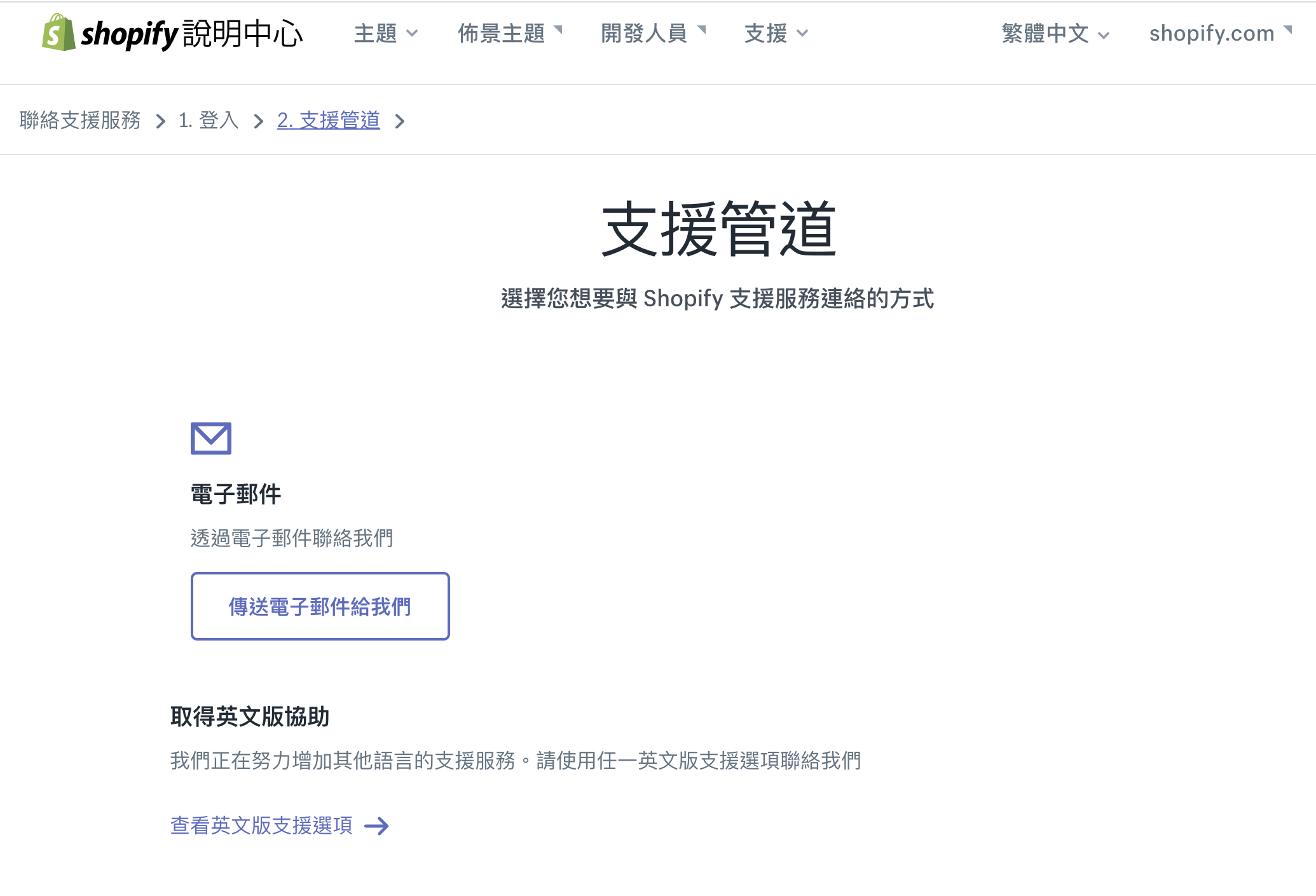 Shopify customer service support in Chinese