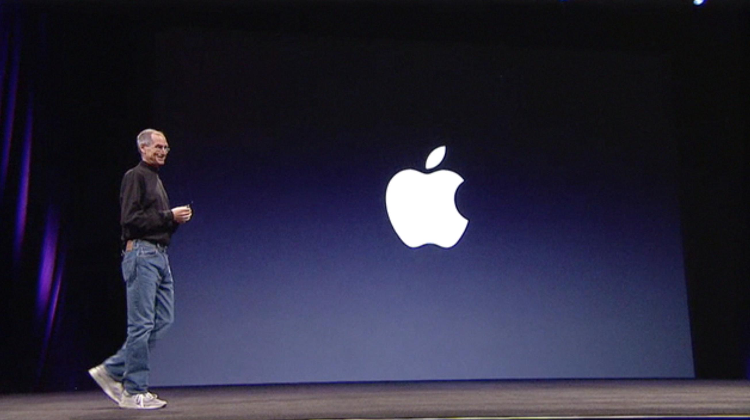 Steve Jobs's consistent styling with blue jeans and black tee create a good recognition