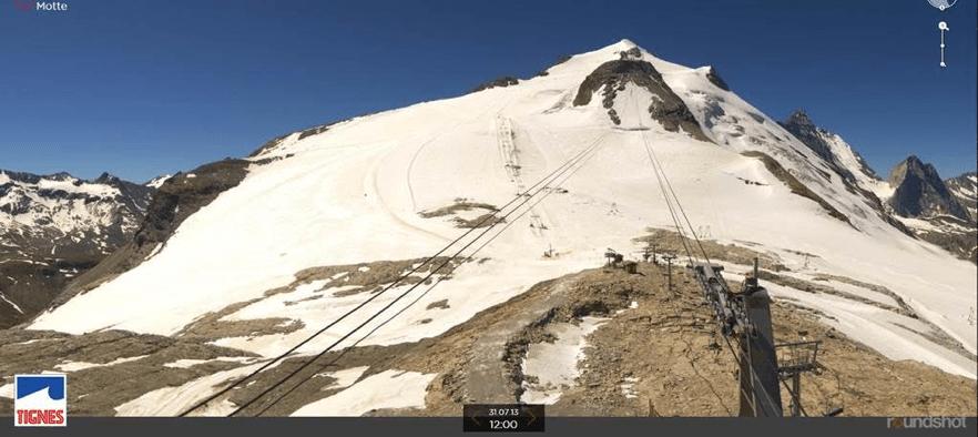 The Tignes Glacier in Summer 2013