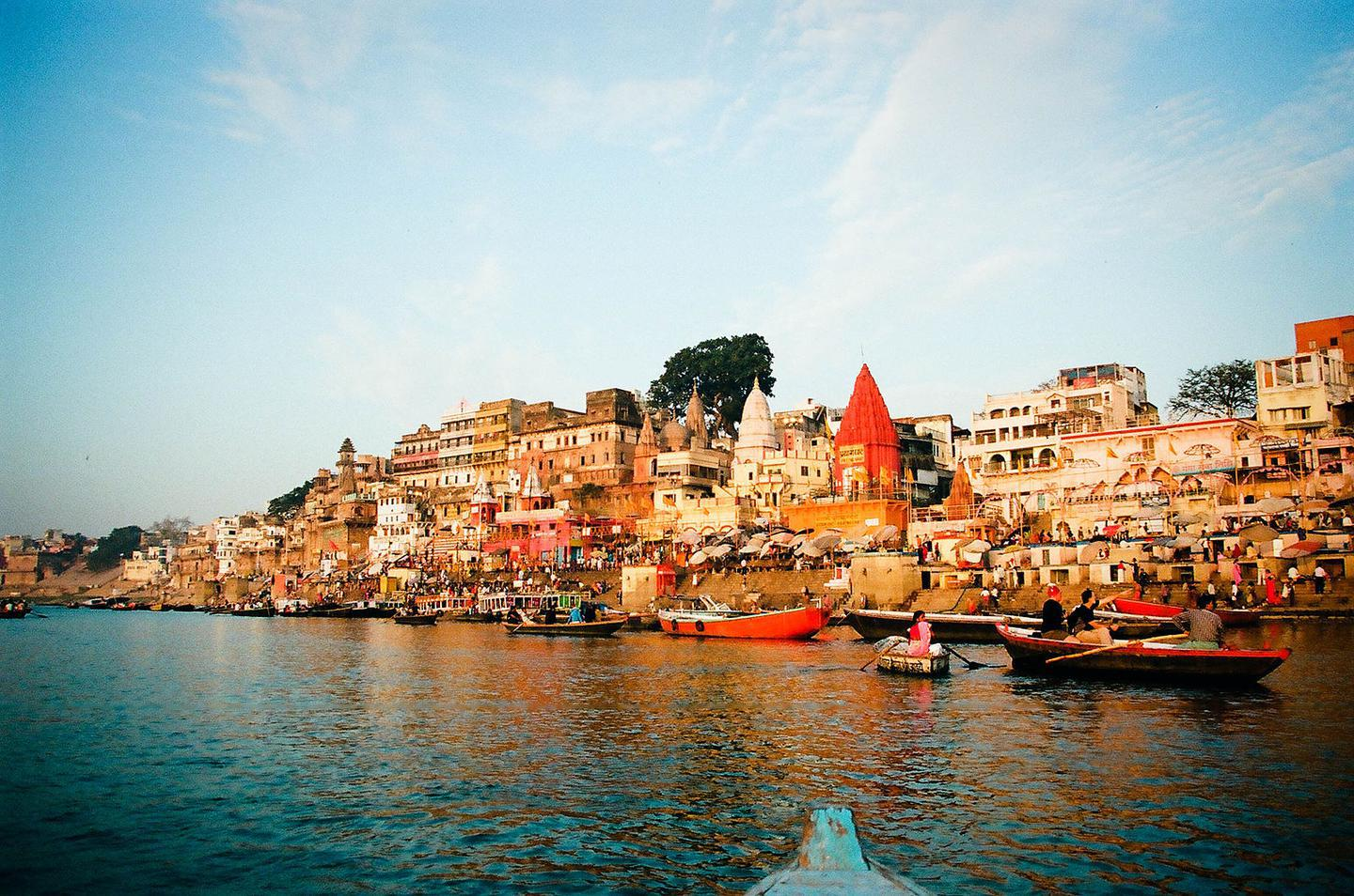 The Ganges River in Varanasi, India