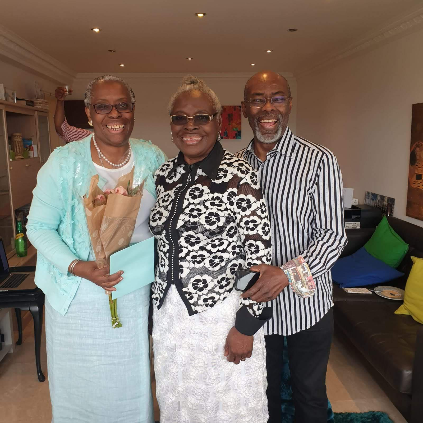 Uncle Rodney and Aunty Buki celebrating their wedding anniversary with Mama Kayode Ogunlewe