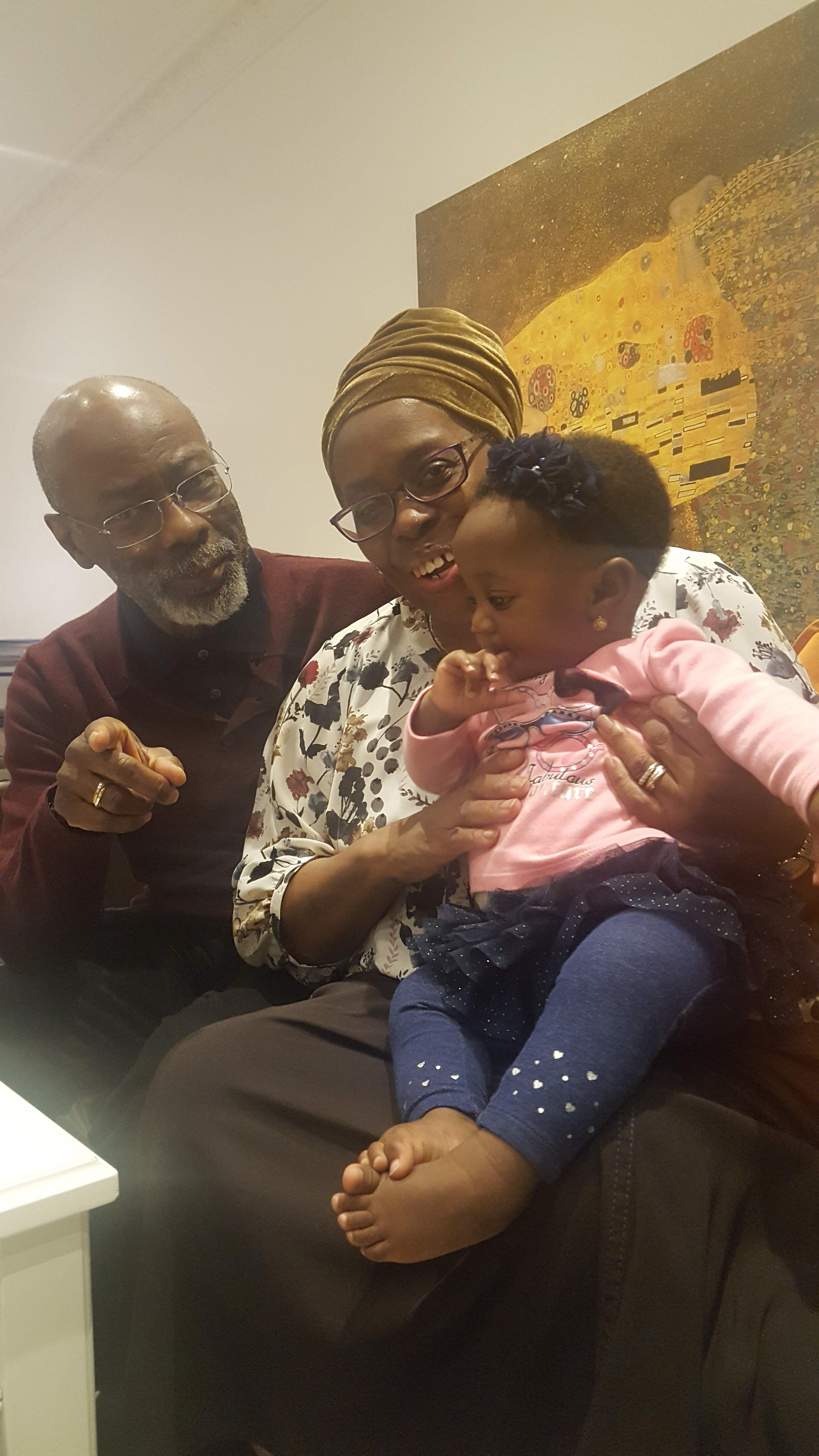 Uncle Rodney with his great niece, Arenike Sokenu