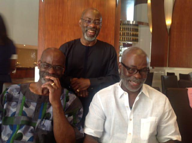 Rodney and his brothers, Jide and Richard
