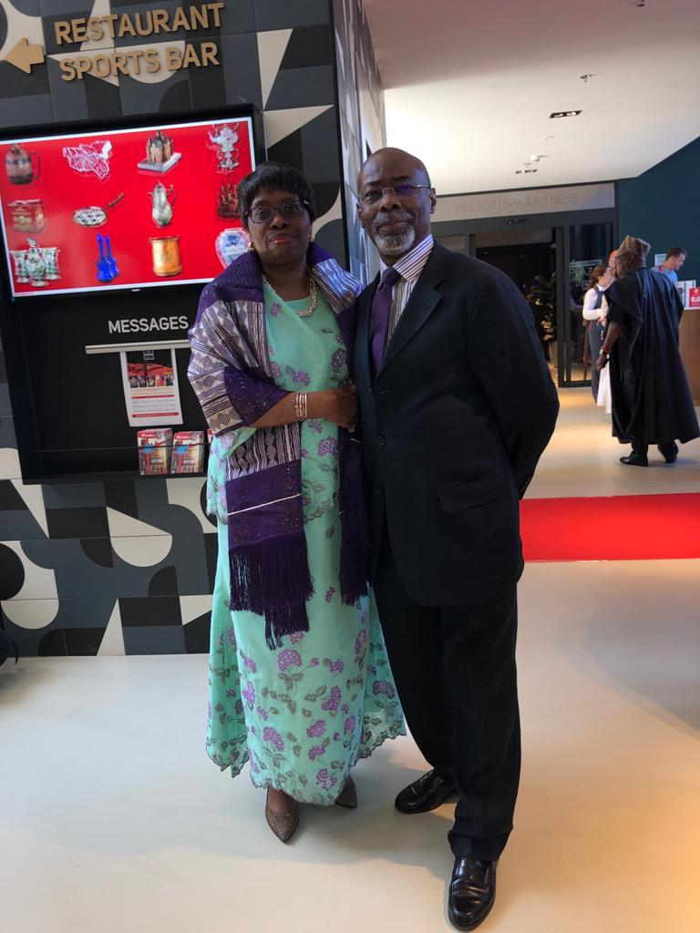 Dr Rodney Adeniyi-Jones with his beloved wife Bukola Adeniyi-Jones in June 2019