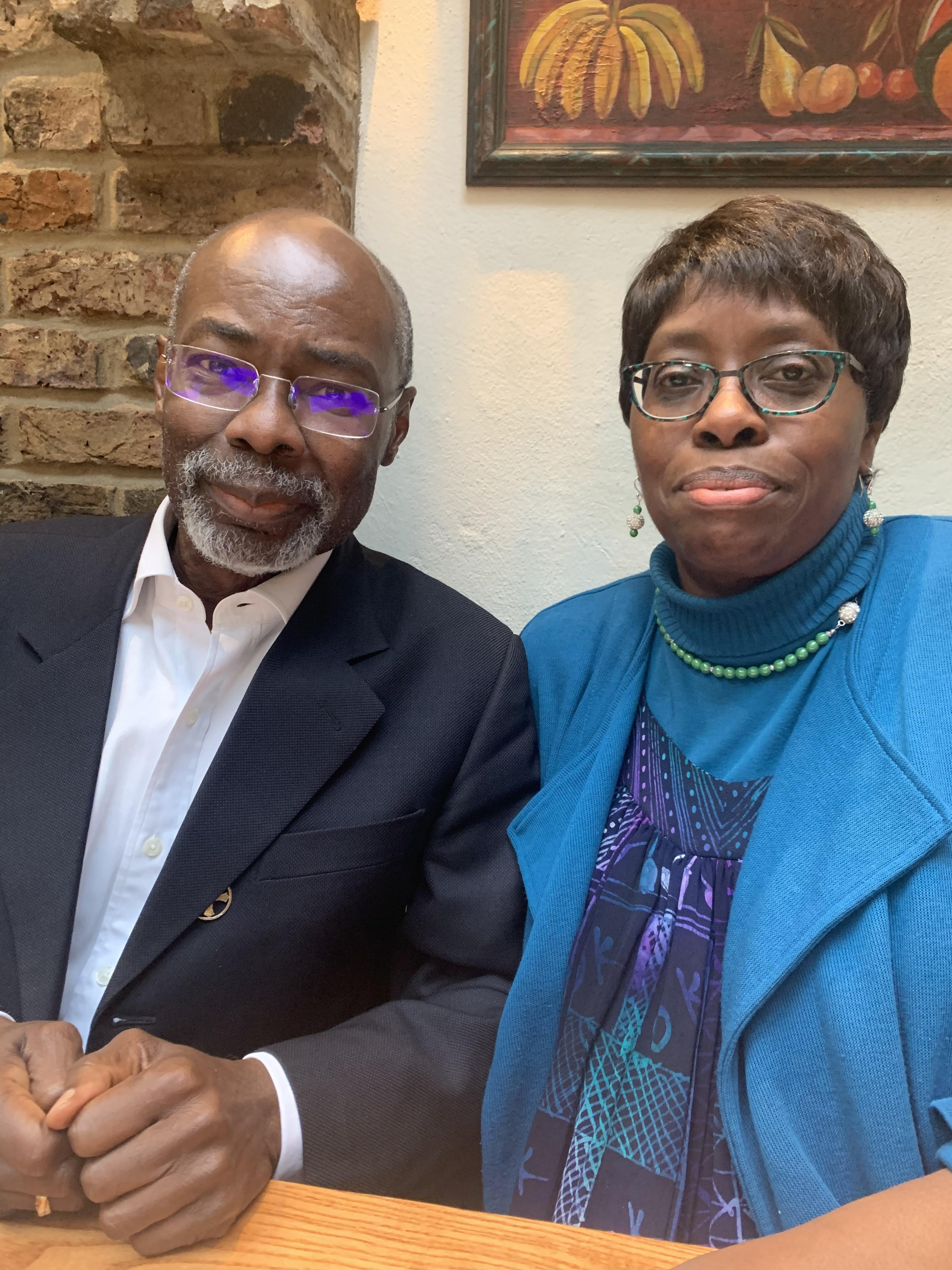 My last memory of Uncle Rodney - when he & Aunty Bukky took me out for lunch because I couldn't be there for their birthdays. He was always very kind and easy to talk to, or even just to be silent with. I'm grateful I had the opportunity to know him.