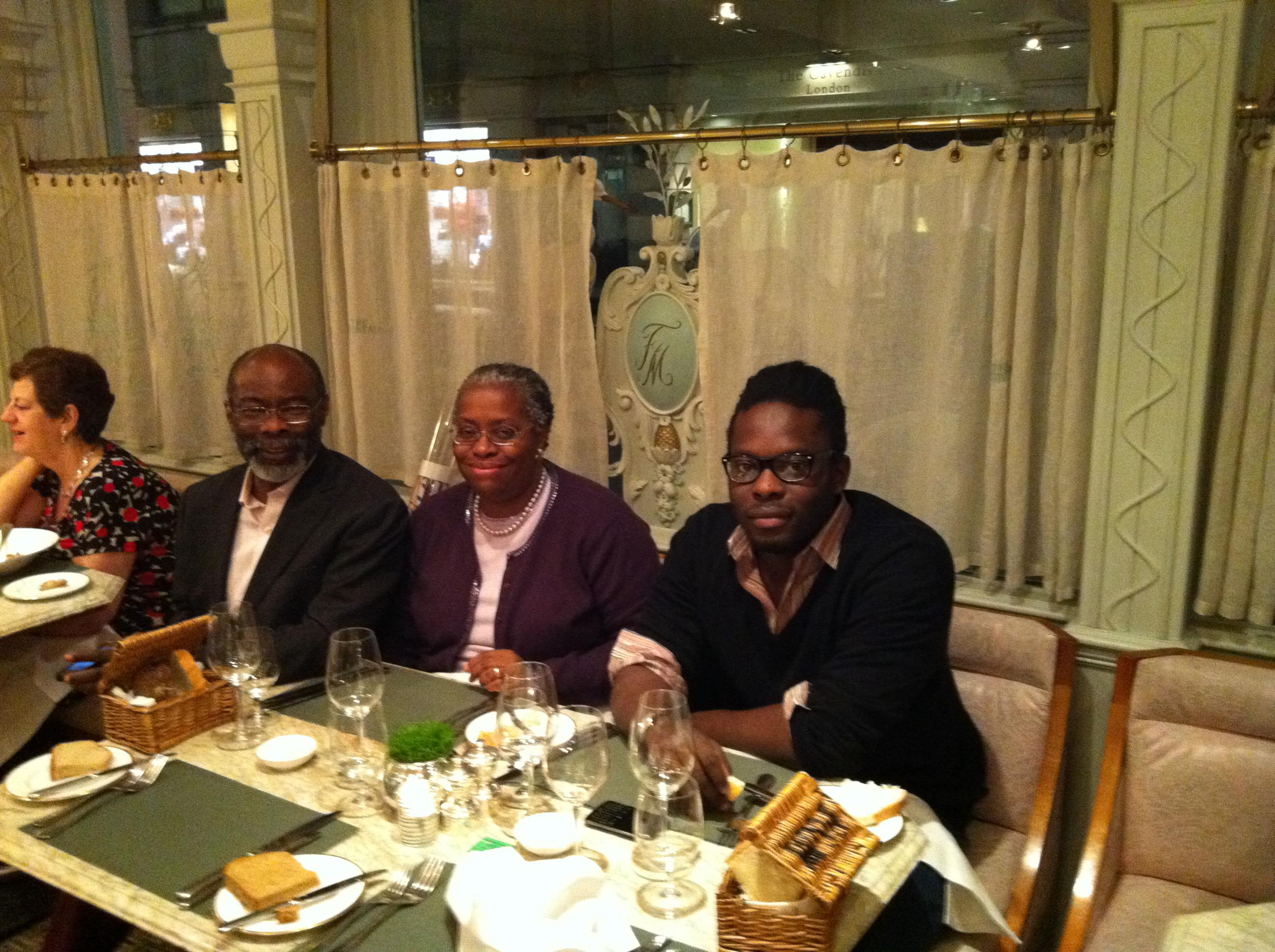 Ron and Rodney;  and Tunji, Buki, and Rodney