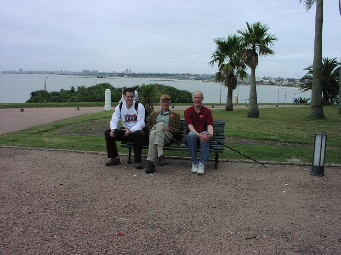 Dan, Toby, and George in Montevideo, Uruguay