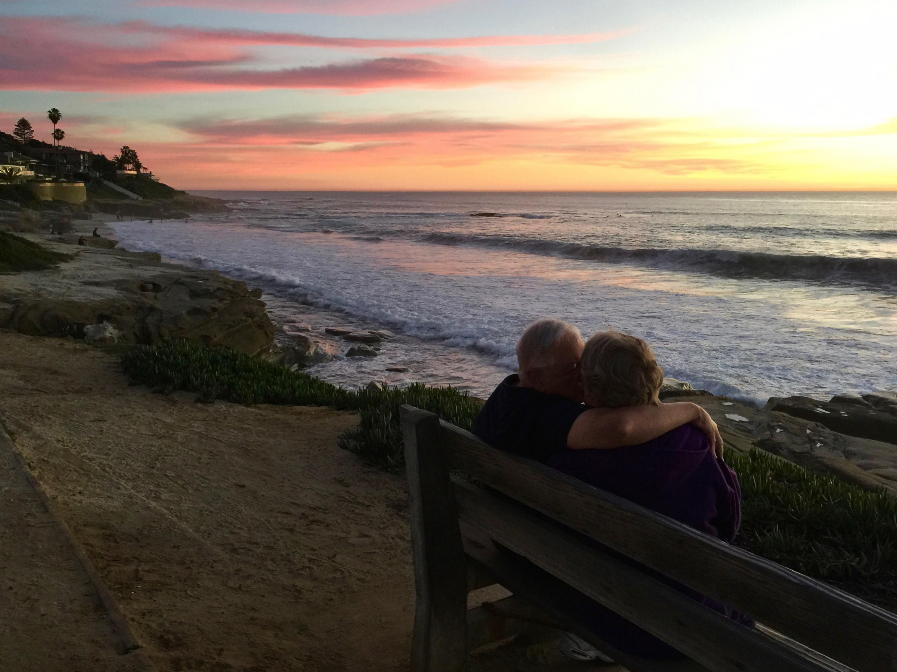 Lamar & Marsha enjoying the view. Santa Cruz was one of their favorite spots.