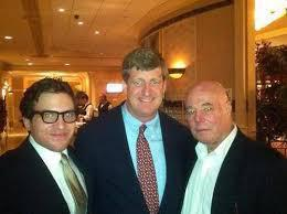 A favorite photo. Nick (left), Patrick Kennedy, and Rudy Cheeks