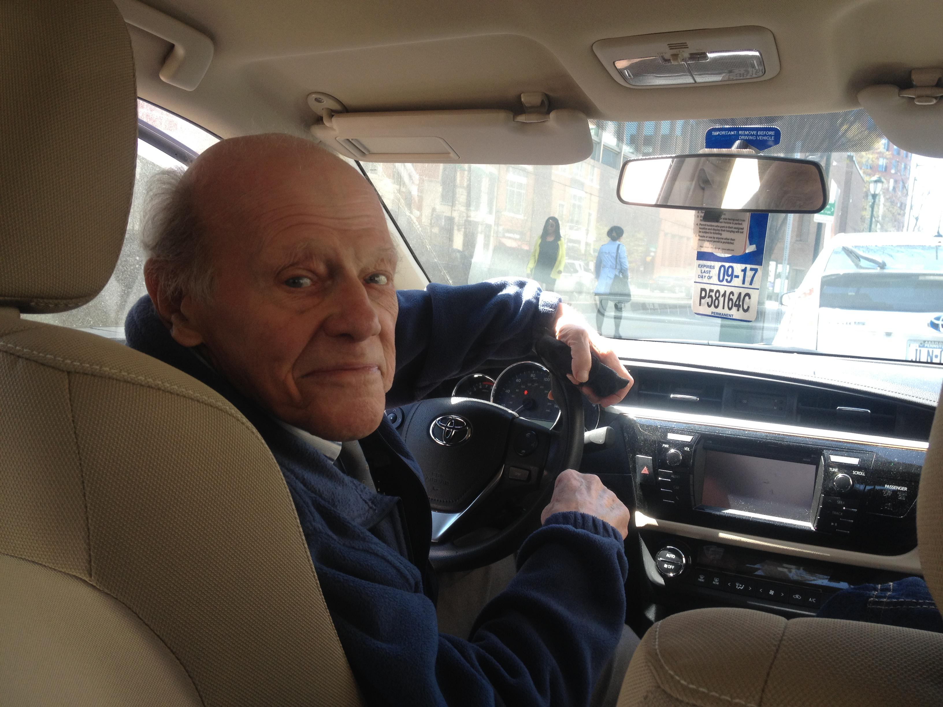 Last time I saw Dick was in 2016. He and Karen drove me back to my hotel, where before saying goodbye, I took a photo of my 90 year old driver