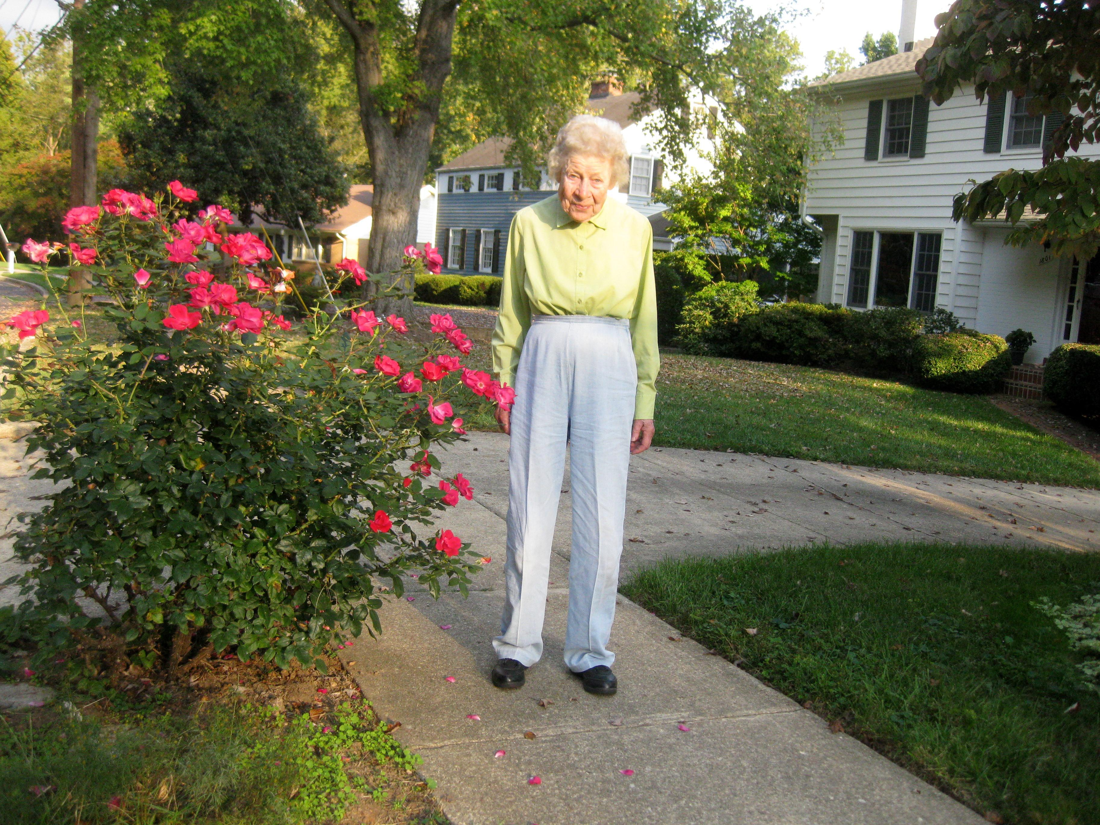 Evelyn Moore - Outside her longtime residence in Alexandria, VA