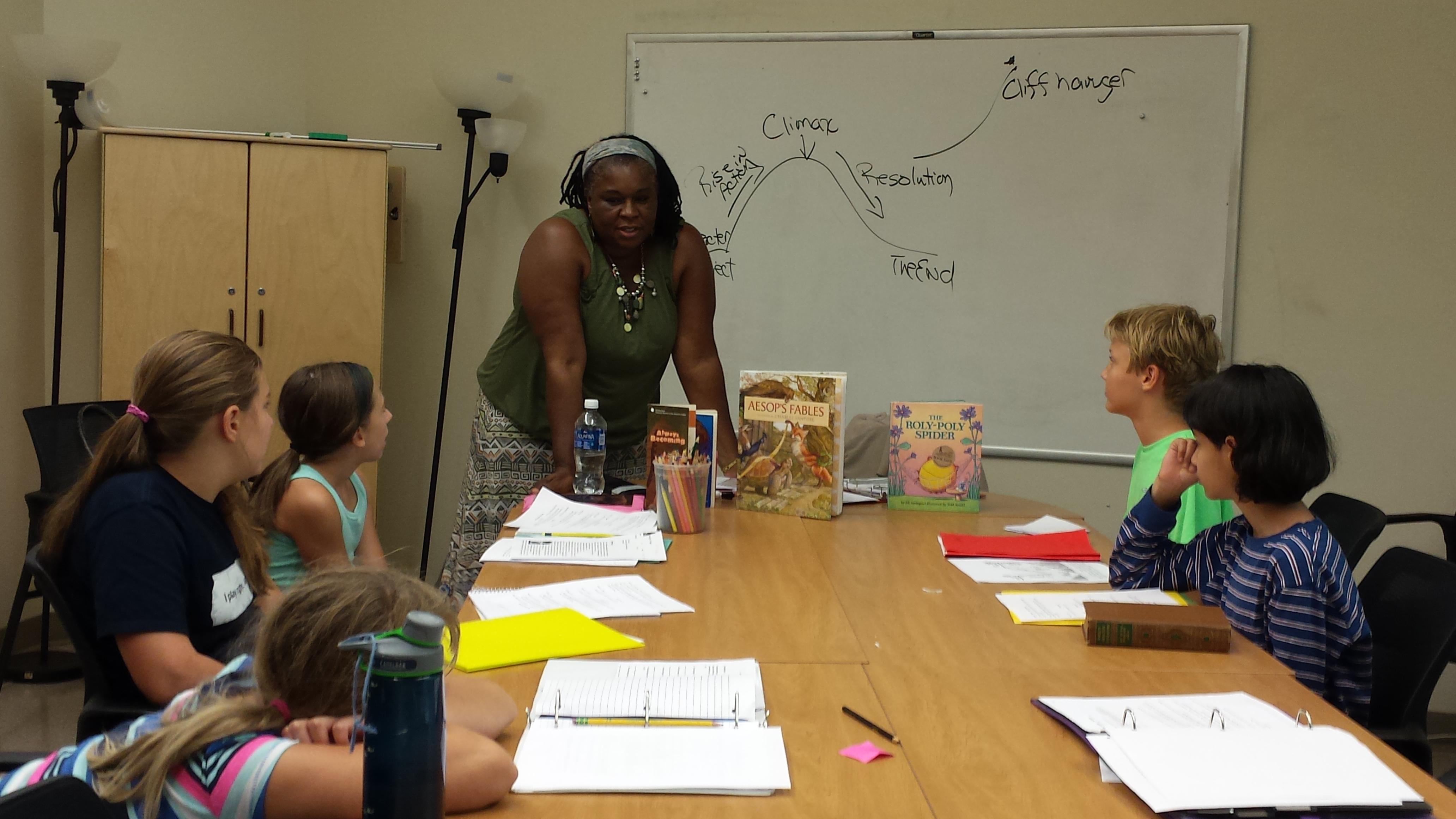 Arthuretta engaging her stude…