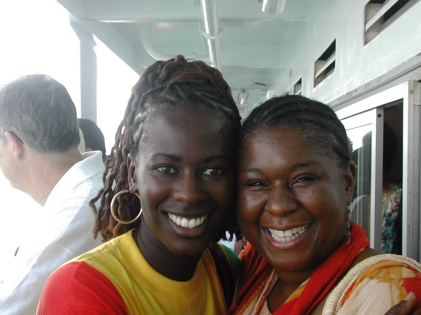 On the boat to Goree Island c…