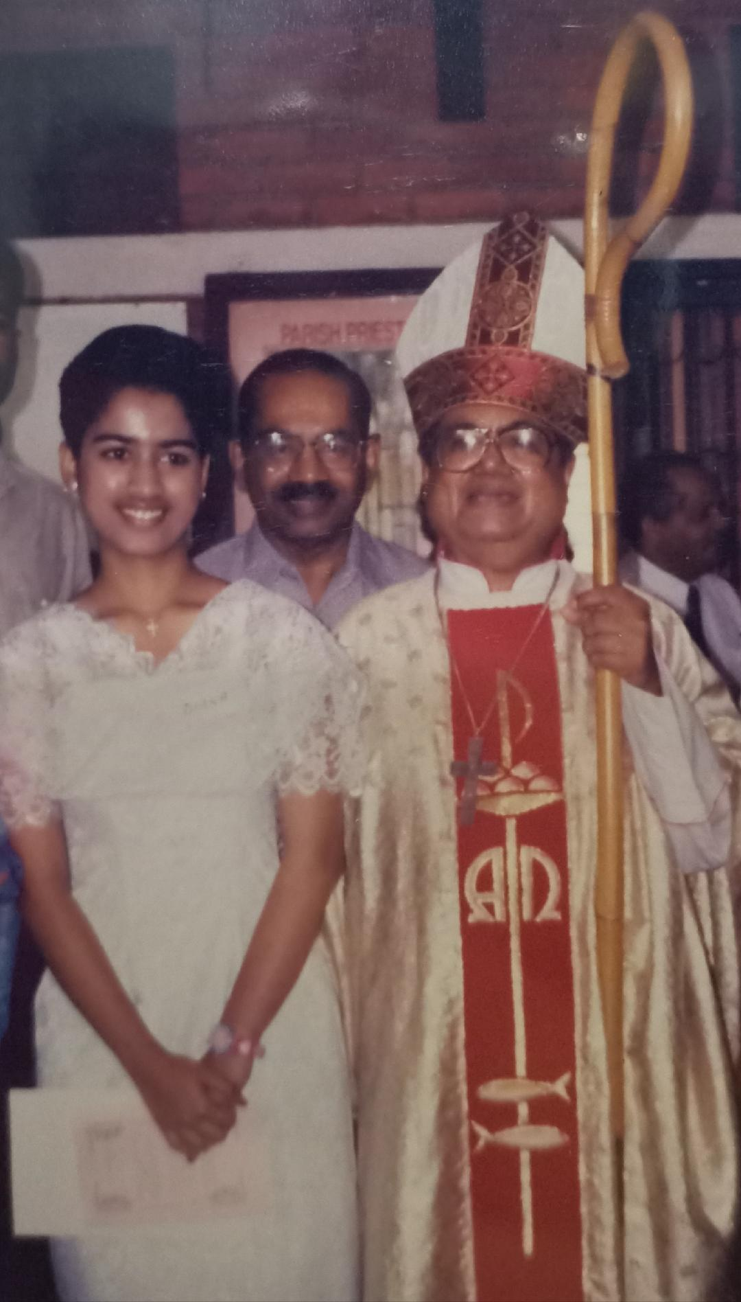 Taken on my Sacrament of Confirmation in 1999, with the most humble and down to earth Bishop, His Eminence Cardinal Soter Fernandez together with my late dad. This photo is now 21 years old and it will be kept very close to my heart.