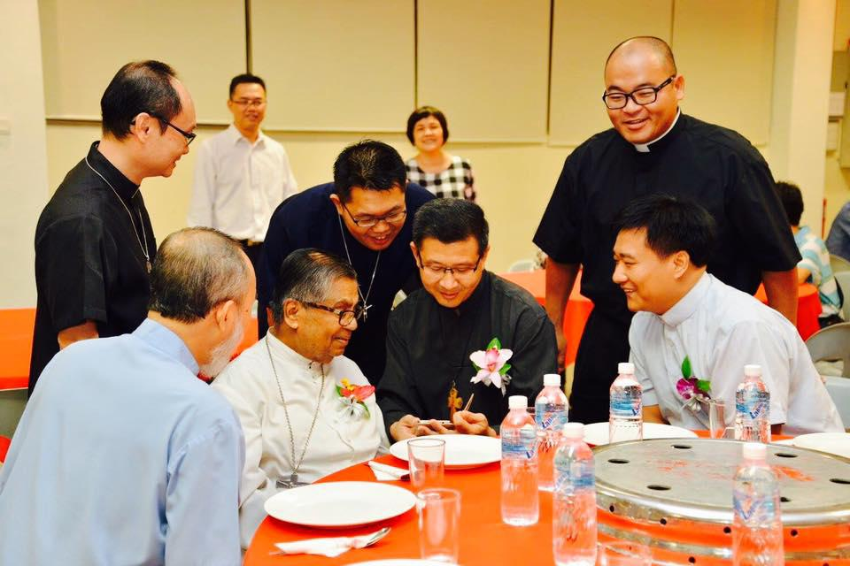Year 2016, during dinner time with CDD Fathers and received the news from Vatican : Habemus Cardinale Anthony Soter  Fernandez.
