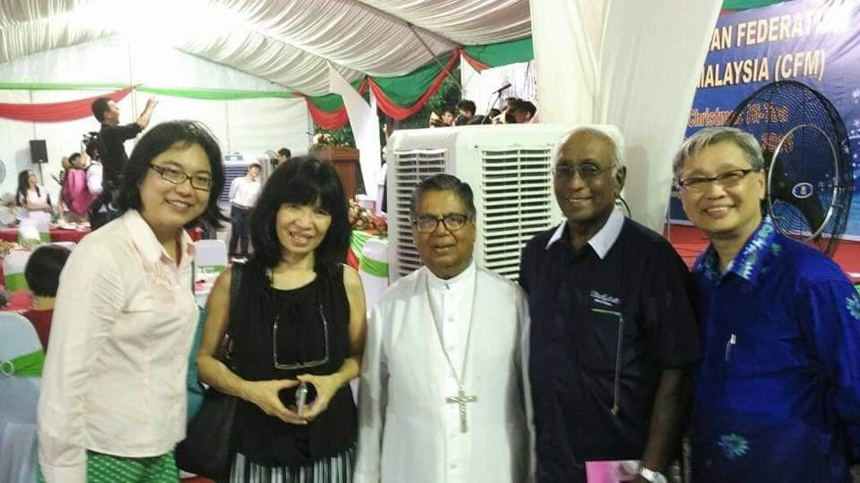 Christan Federation of Malaysia Annual Christmas High Tea. Myself Ivy Tan with St Jude's BEC OUG fellow member Jenny Foo, Cardinal Soter, former St John's primary school headmaster Brother Julian Augustine & CFM executive secretary Elder Tan Kong Beng. 2016 was the year Pope Francis elevated AB Emeritus Soter to Cardinal