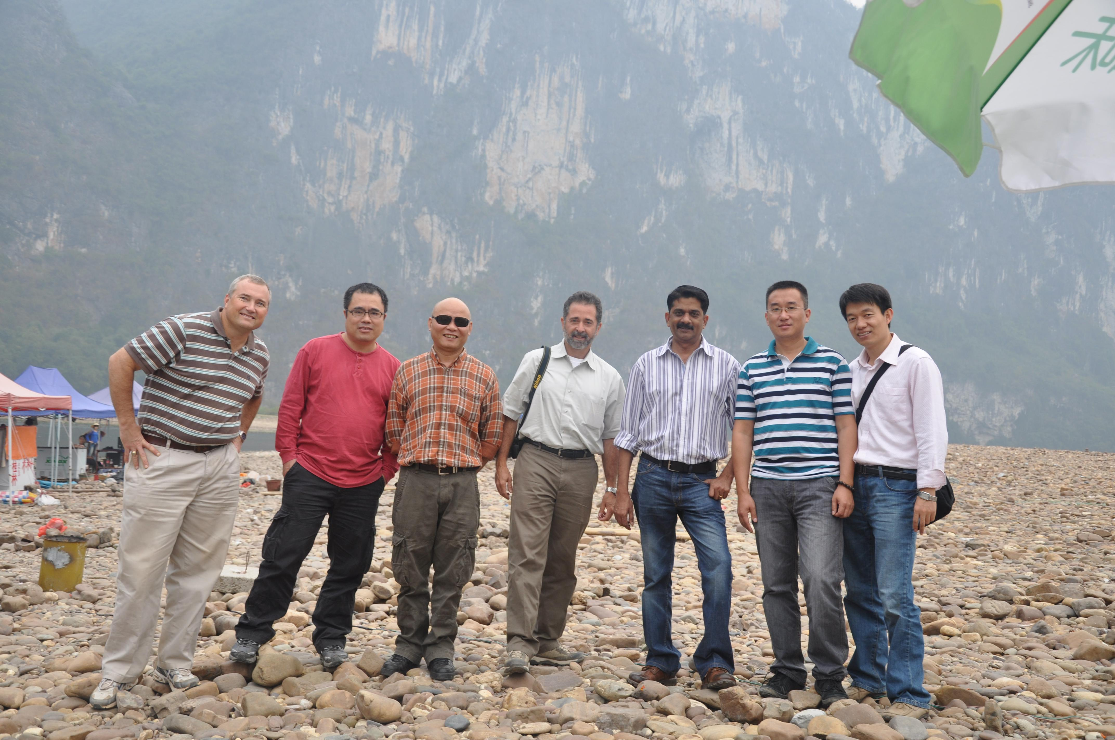 Brian, Keith, Roffie and Harry at Lei River National Park China