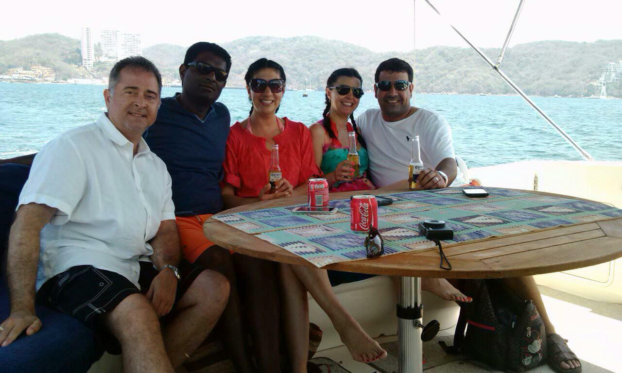 Brian w/ Raj & Sonia Settipalli and  Arturo & Karla Garcia