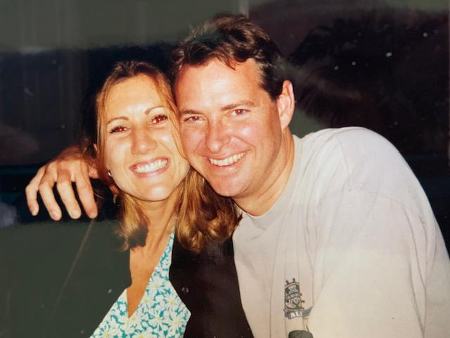 "Gina wrote on the back of this photo: ""Gina & Mike celebrating in Key West after our engagement! :-)"""