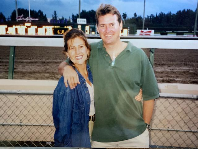 "On the back of this photo Gina wrote: ""We just on some $$ eat the Florida Derby! We go with a group once a year & it's a fun 'ole time!"""