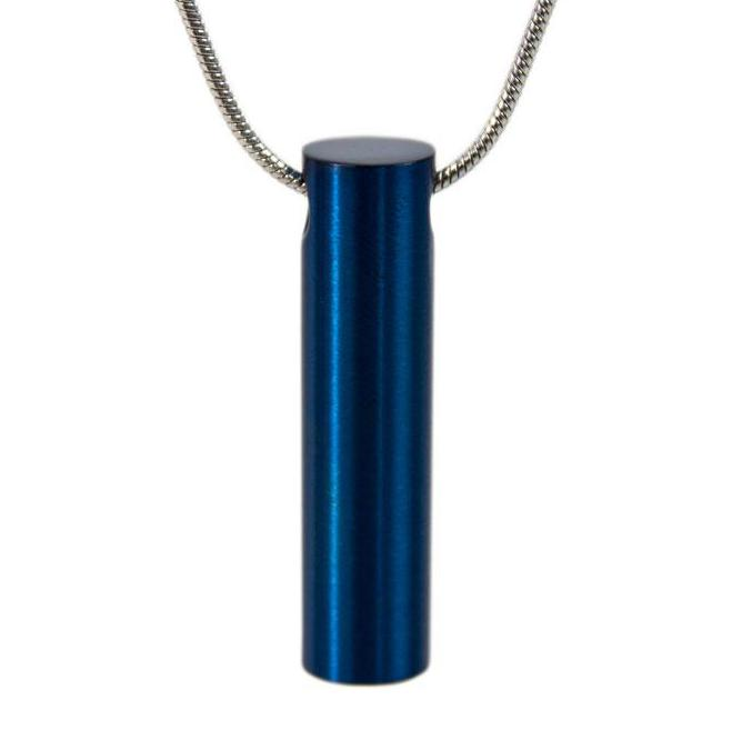 Photo of Blue Cylinder Cremation Pendant