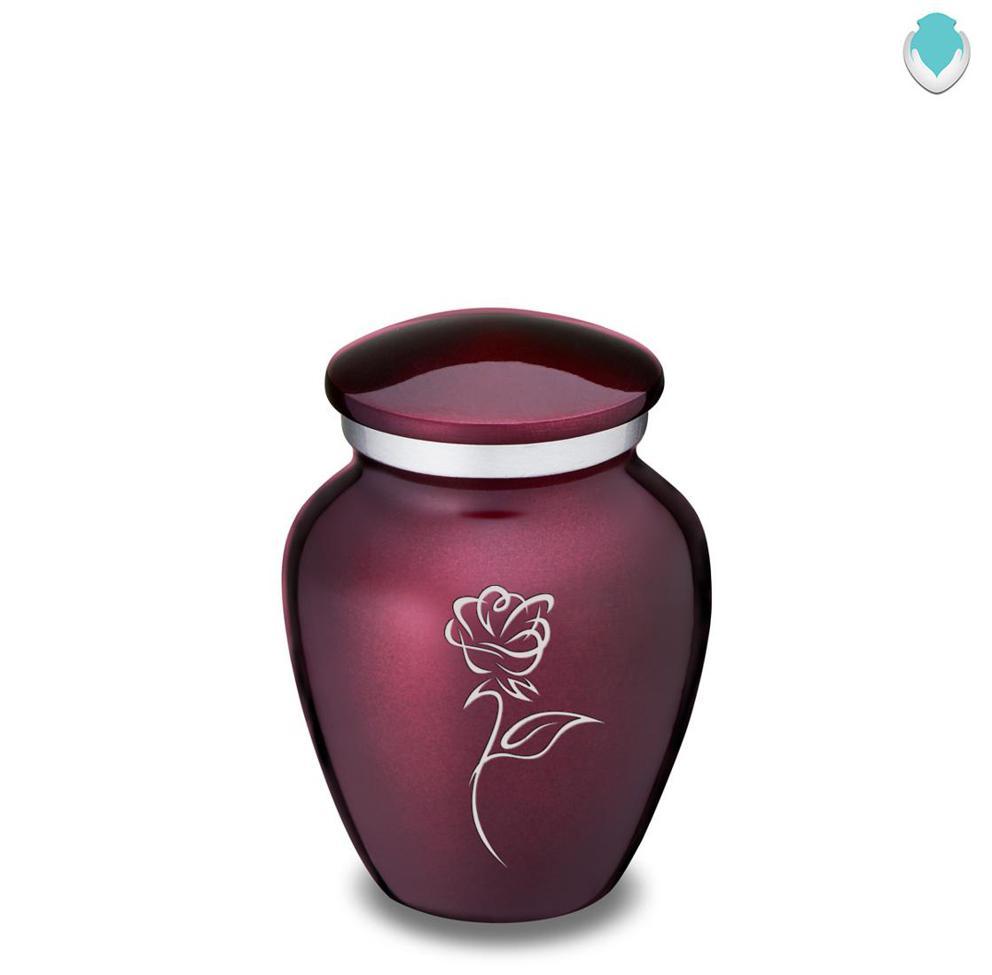 Photo of Keepsake Cherry Purple Embrace Rose Cremation Urn
