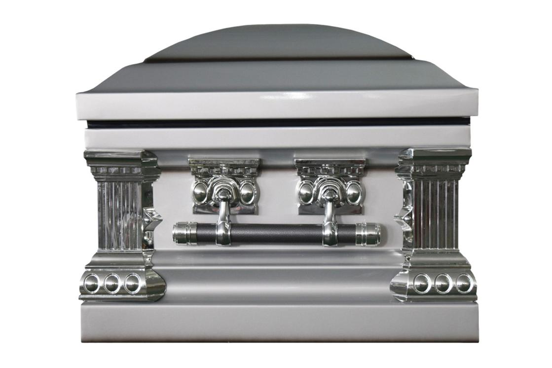 Photo of Knight Silver Casket with White Interior